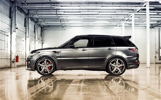 Обои 2014 Range Rover Sport серебра внедорожник вид сбоку автомобиля
