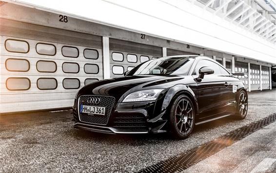 Обои 2015 Audi TT RS купе, черный автомобиль