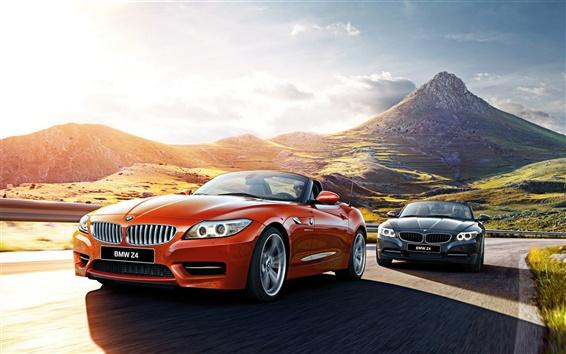 Fond d'écran 2015 BMW Z4 E89 vitesse de la voiture d'orange