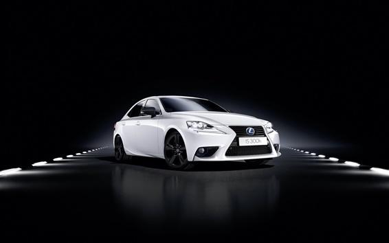 Fond d'écran 2015 Lexus IS voiture blanche