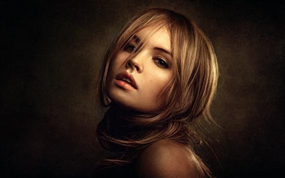 Wallpaper Blonde girl portrait