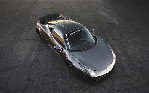 Wallpaper Ferrari 458 supercar top view