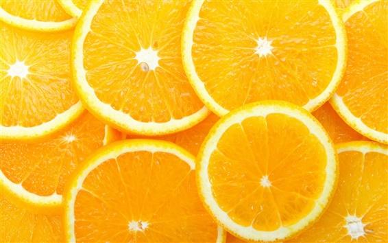 Papéis de Parede Fatia do limão, laranjas, fruto, amarelo