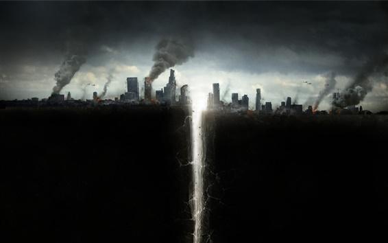 Papéis de Parede San Andreas de 2015 filme, catástrofe, rachadura