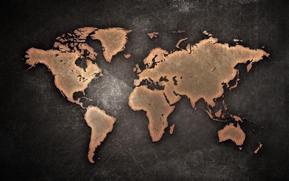 Обои Карта мира, континентов, креативный дизайн