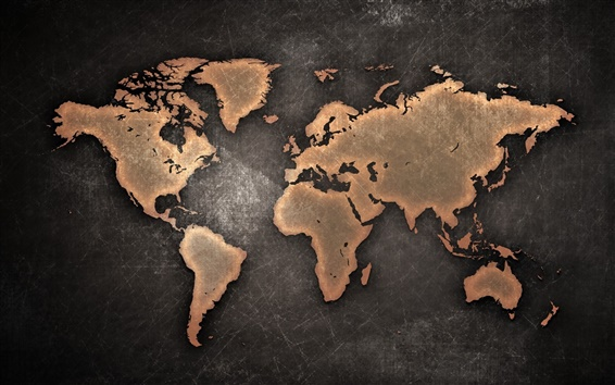 Wallpaper World Map, Continents, creative design