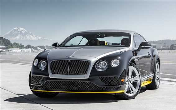 Wallpaper 2015 Bentley Continental GT supercar front view
