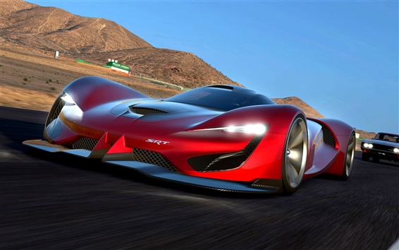 Обои 2015 скорость суперкара Dodge SRT Томагавк Gran Turismo