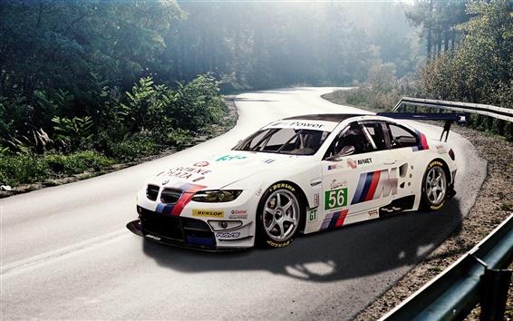 Fond d'écran BMW M3 E92 voiture sport blanc