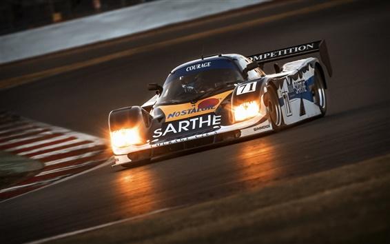 壁紙 F1レースカーのフロントビュー、スポーツ、ライト