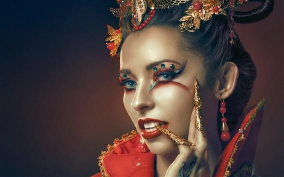Fonds d 39 cran fashion girl portrait maquillage hd image for Fond ecran portrait