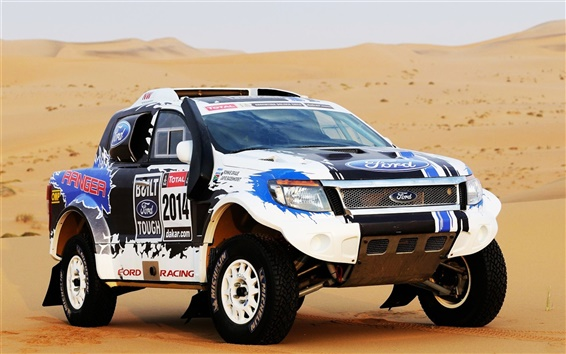 Wallpaper Ford SUV car, Dakar Rally 2014