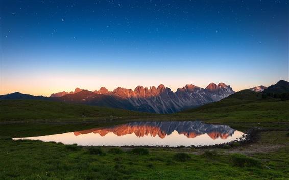 Wallpaper Lake, mountains, water reflection, nature scenery