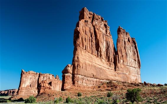 Fond d'écran Rocks, montagnes, ciel bleu