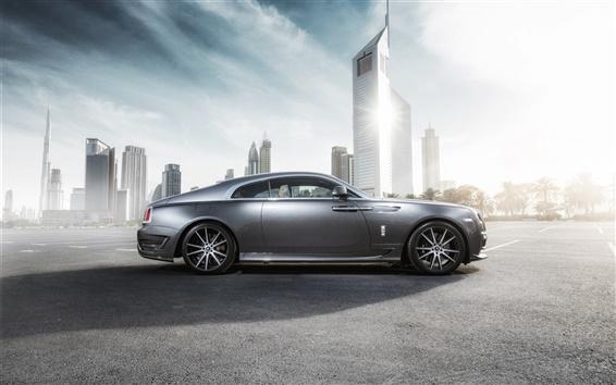 Wallpaper Rolls-Royce Wraith luxury car in city