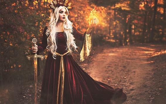 Fond d'écran Shelby Robinson, fille magie, imaginaire, art créatif