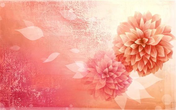 Wallpaper Vector picture, flower, petals, bud, pink