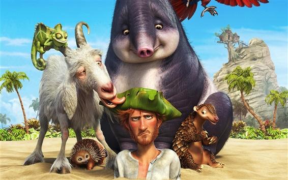 Hintergrundbilder 2016 Cartoon Film, Robinson Crusoe