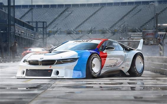 Wallpaper BMW i8 race car