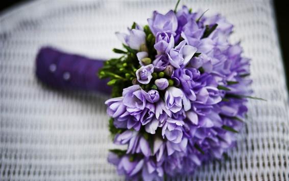 Fond d'écran Fleurs bleues, bouquet, tulipes