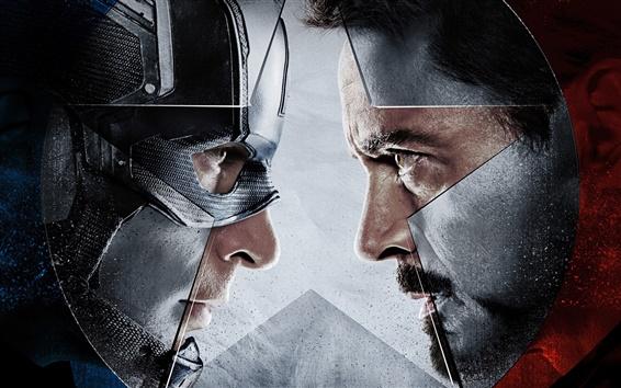 Обои Капитан Америка: Гражданская война, лицом к лицу