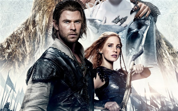 Fond d'écran Chris Hemsworth, Jessica Chastain, The Huntsman: War Winter