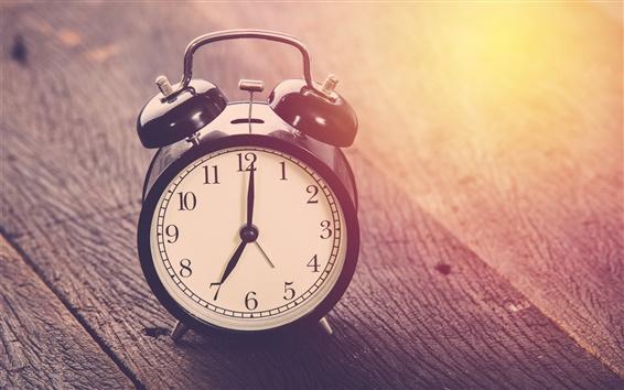 Обои Часы, время, дерево доска, свет