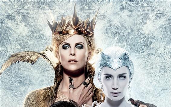 Fondos de pantalla Emily Blunt, Charlize Theron, The Huntsman: Guerra de Invierno