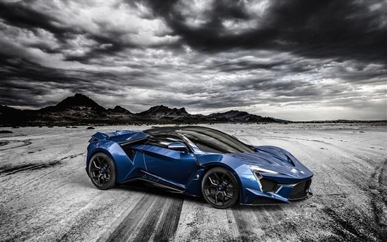 Wallpaper Fenyr SuperSport blue supercar