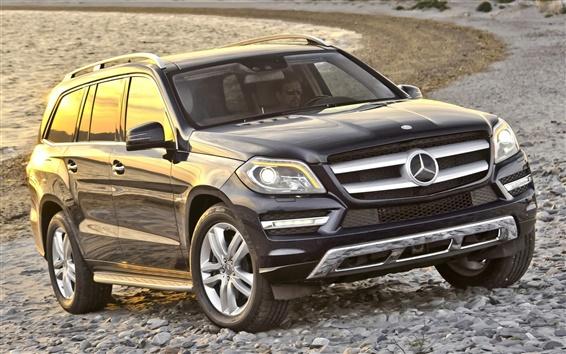 Обои Mercedes-Benz черный внедорожник автомобиль