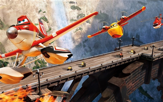 Wallpaper Planes: Fire and Rescue