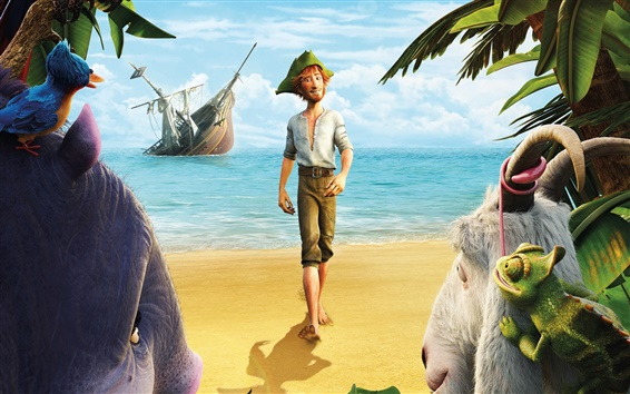 Wallpaper Robinson Crusoe HD movie 2016
