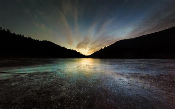 Wallpaper Rose Valley Reservoir, West Kelowna, British Columbia, Canada, lake, sunset