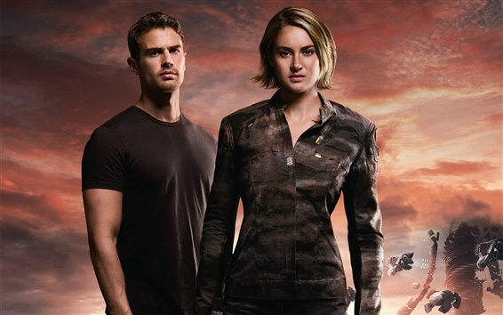 Wallpaper Shailene Woodley, Theo James, The Divergent Series: Allegiant