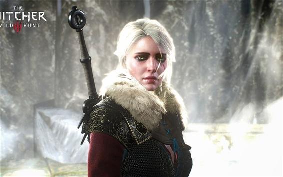 Wallpaper The Witcher 3: Wild Hunt, white hair girl