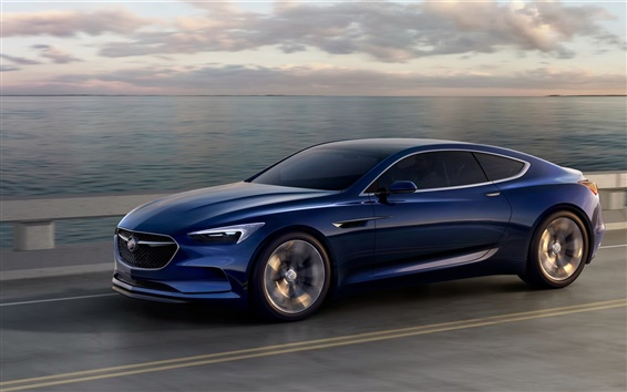 Wallpaper Buick Avista concept blue car speed