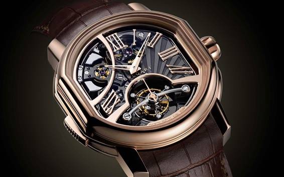 Wallpaper Bvlgari watch, precision structure