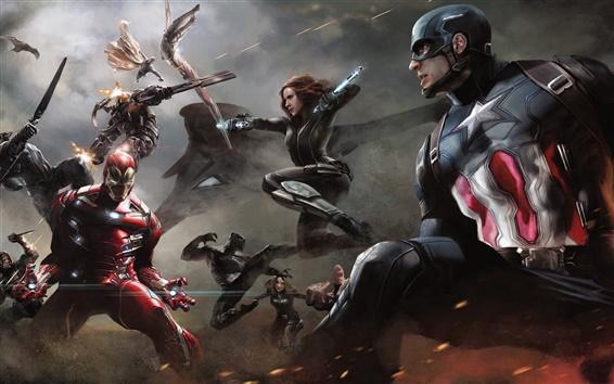 Papéis de Parede Capitão América: Guerra Civil de 2016 HD