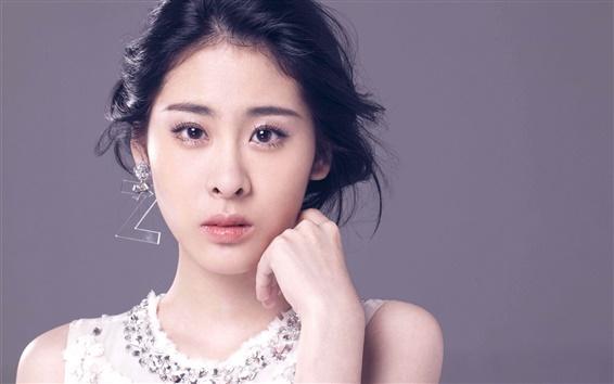 Fond d'écran Chinoise fille de musique, Zhang Bichen 01