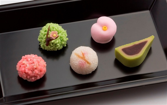 Wallpaper Desserts, gourmet, Japanese confectionery