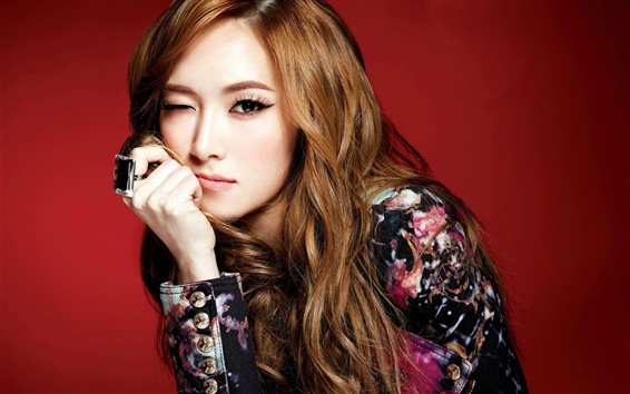 Wallpaper Girls Generation, Jessica, playful expression