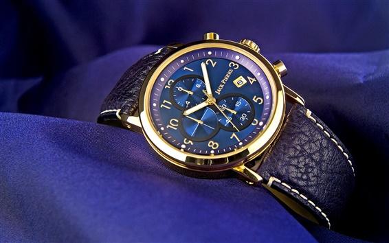 Wallpaper Jack Pierre watch, gold, blue