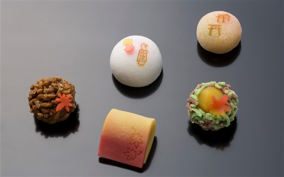 Wallpaper Japanese confectionery, food, sweet