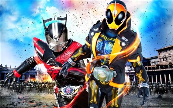 Fond d'écran Kamen Rider War MOVIE, film japonais