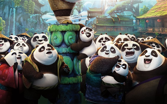 Fond d'écran Kung Fu Panda 3, Panda village de pandas