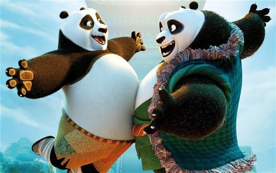 Fondos de pantalla Kung Fu Panda 3, Po y su padre