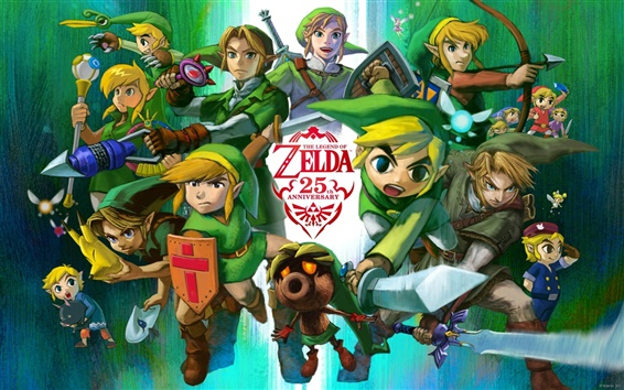 Wallpaper The Legend of Zelda, 25th Anniversary, RPG game