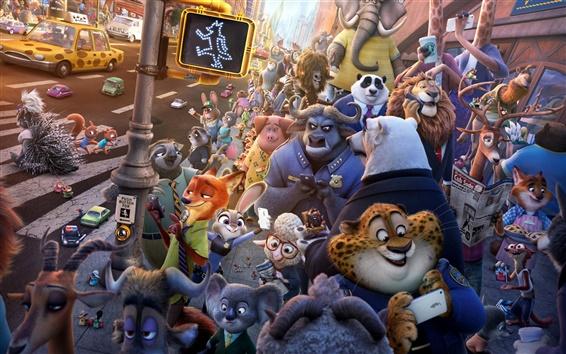 Wallpaper Zootopia 2016, Disney movie
