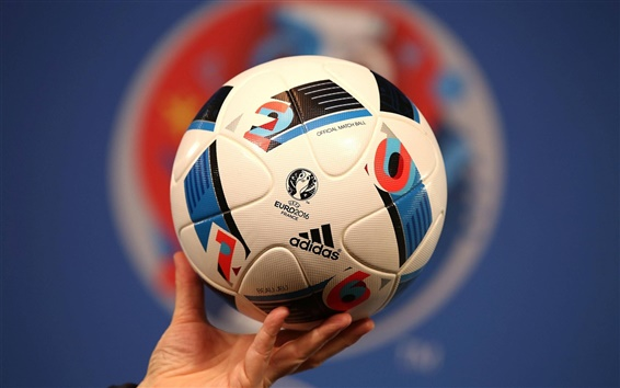 Adidas football for UEFA EURO 2016, France Wallpaper Preview
