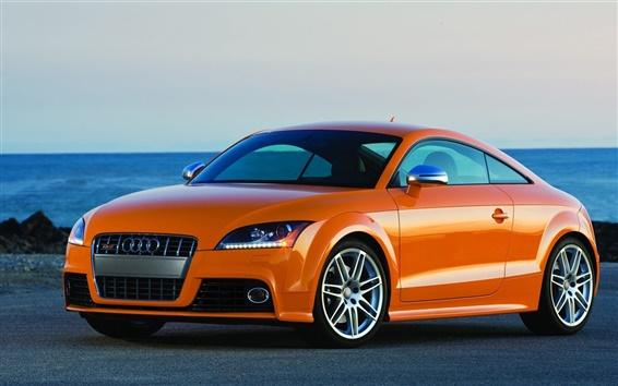 Wallpaper Audi TT Coupe, orange color